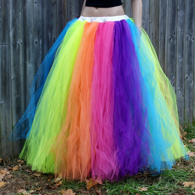 neon rainbow prom wedding fairy gown tutu skirt formal ebay